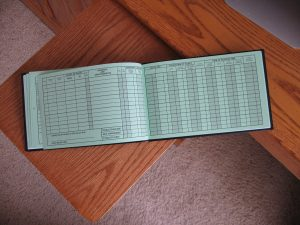 Image showing the inside pages of a pilot's logbook